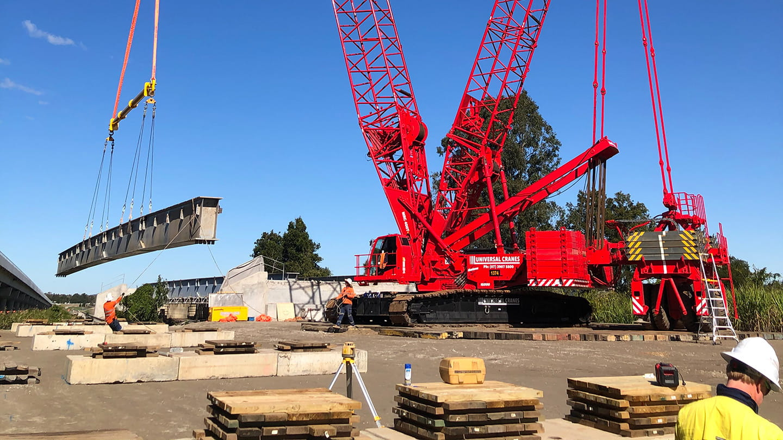 unibridge removal crane construction