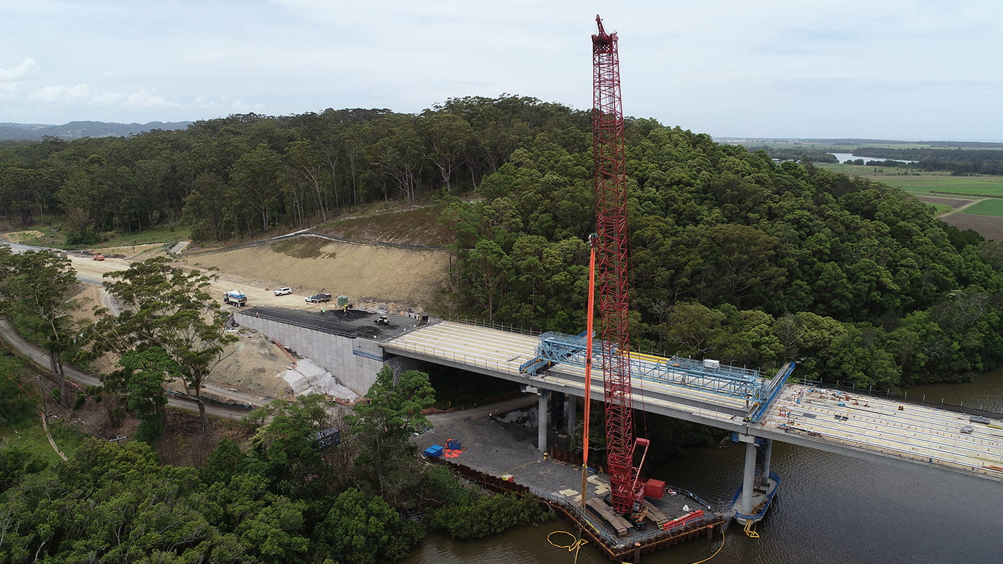 bridge construction services and geotechnical design and pile logging
